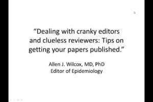 Dealing with cranky editors and clueless reviewers: Tips on getting your papers published
