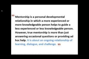 On mentoring and being mentored: Eight questions and some answers